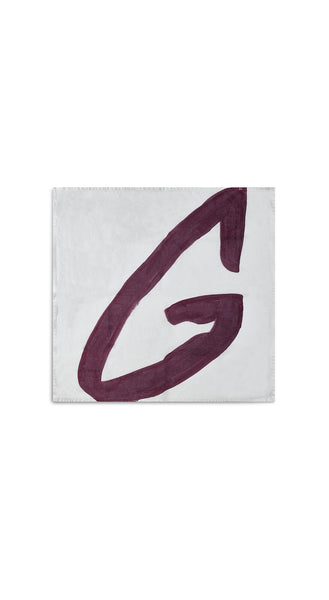 Alphabet Napkin 'G' in Grape Purple