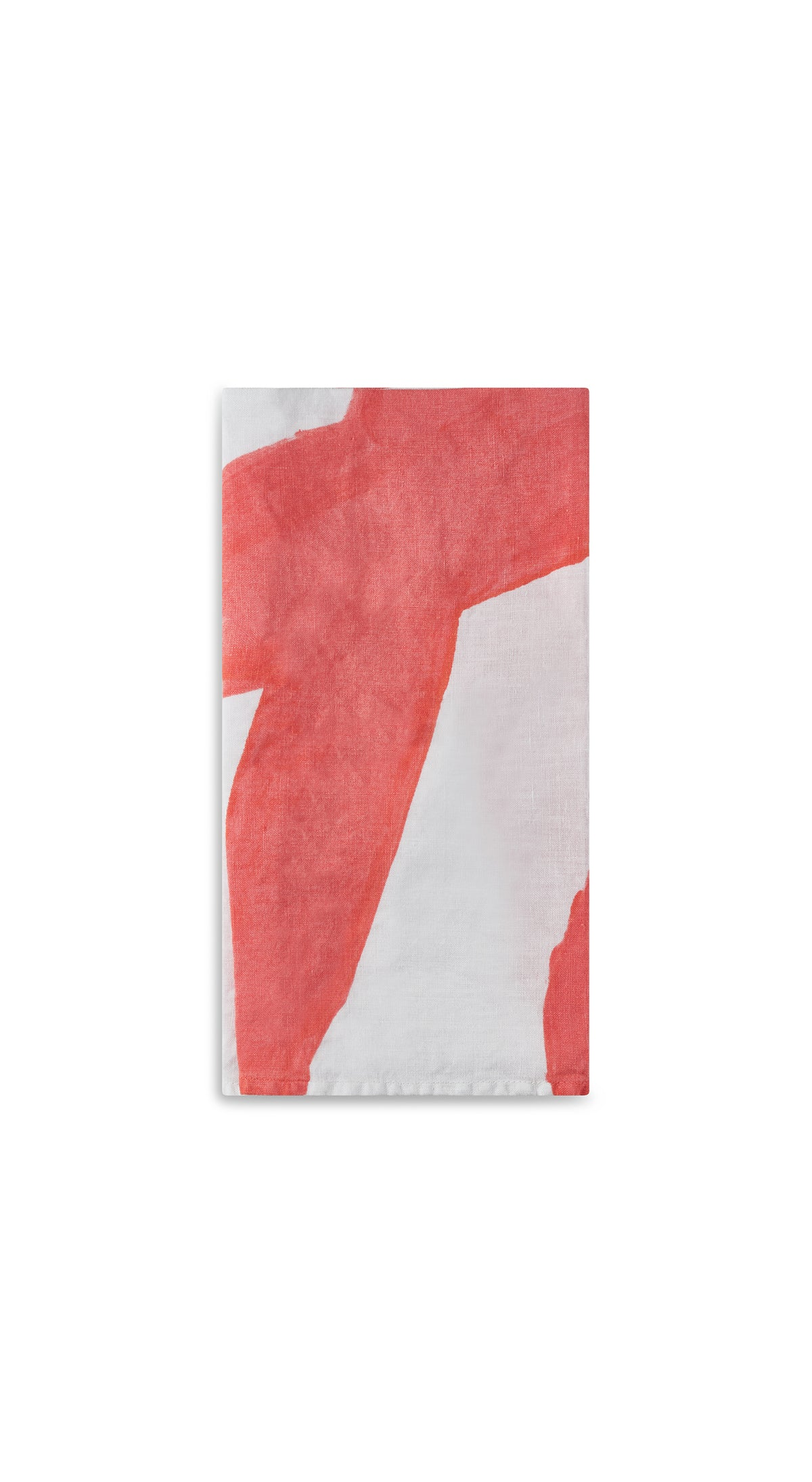 Alphabet Napkin 'H' in Coral Orange