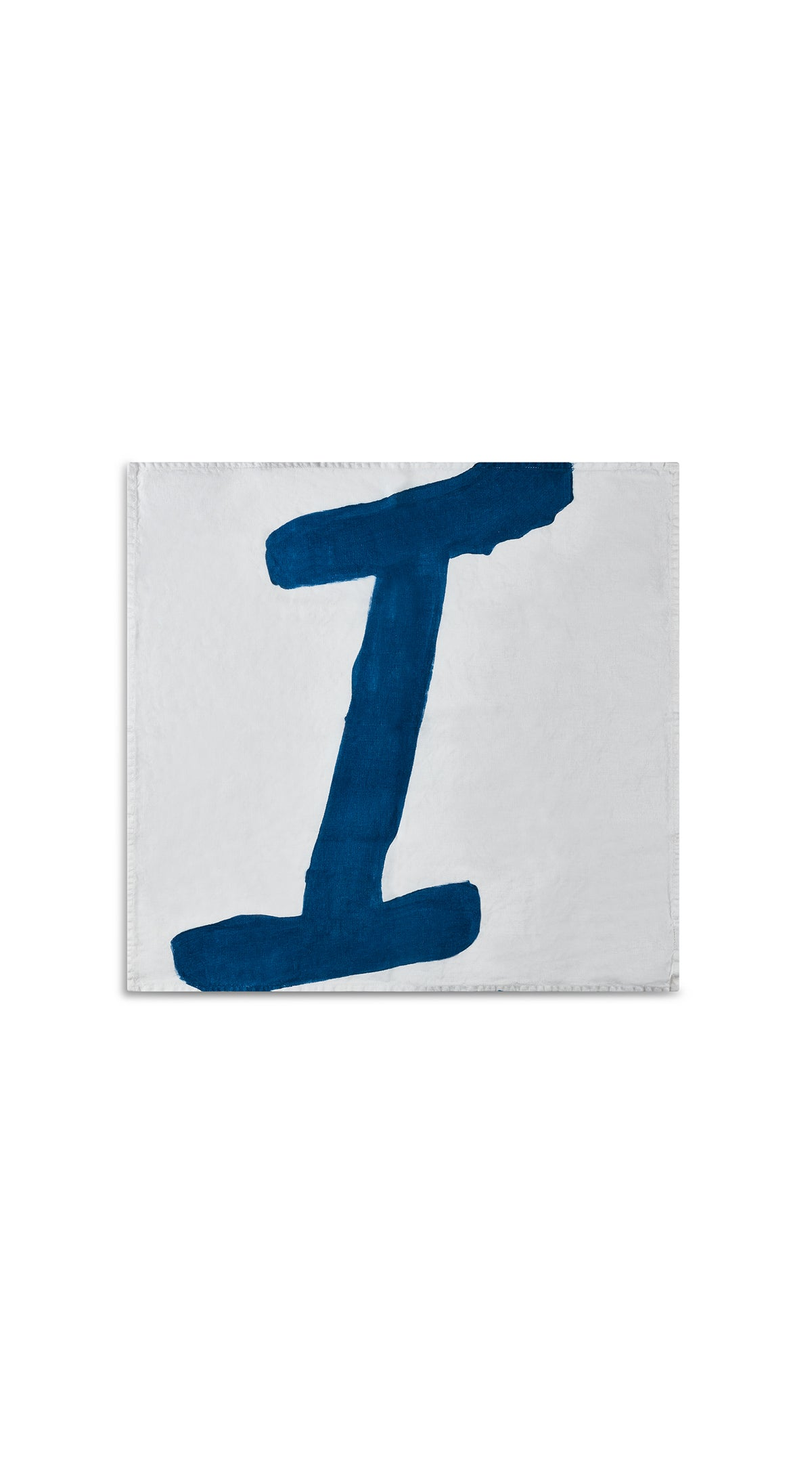 Alphabet Napkin 'I' in Midnight Blue
