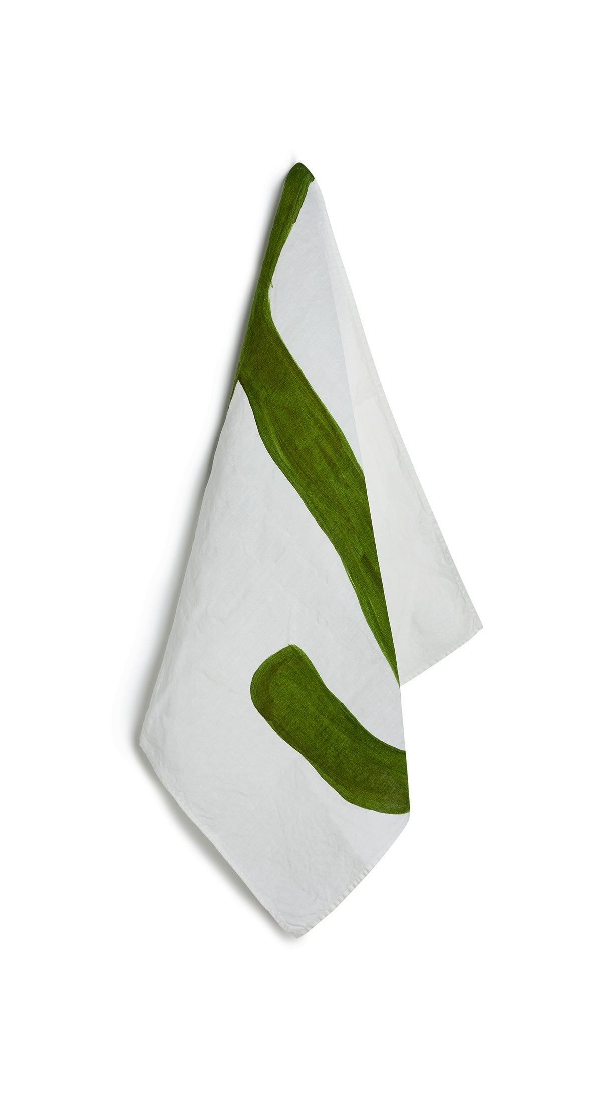 Alphabet Napkin 'J' in Avocado Green
