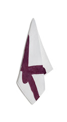 Alphabet Napkin 'K' in Grape Purple
