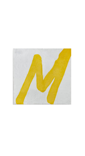 Alphabet Napkin 'M' in Lemon Yellow