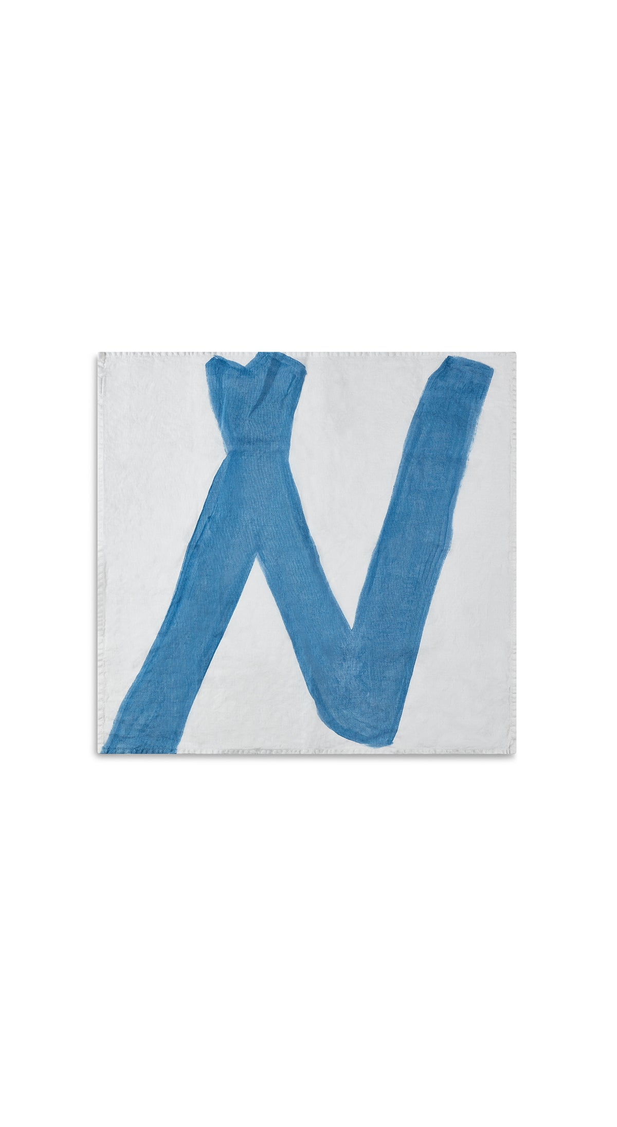 Alphabet Napkin 'N' in Sky Blue