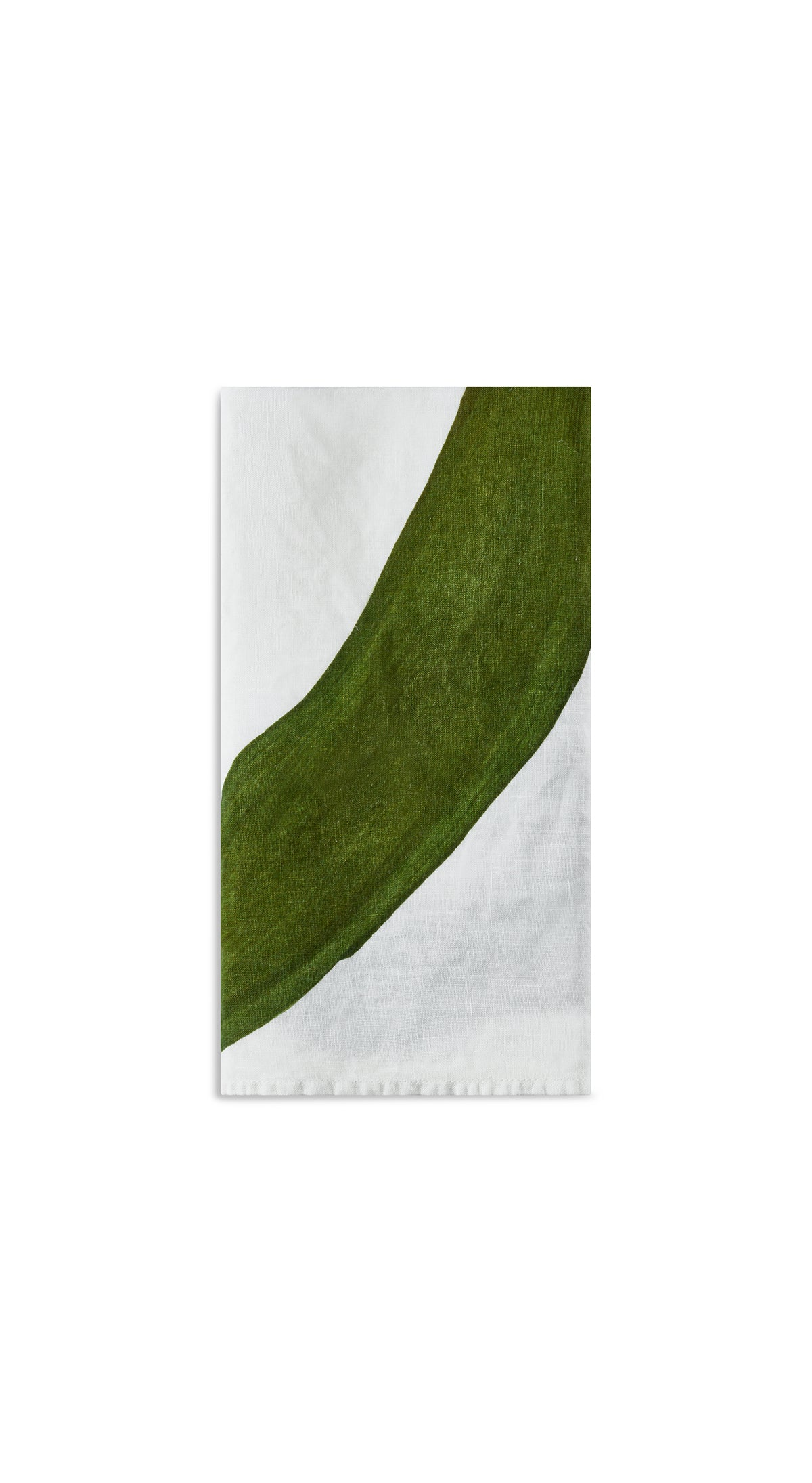 Alphabet Napkin 'O' in Avocado Green