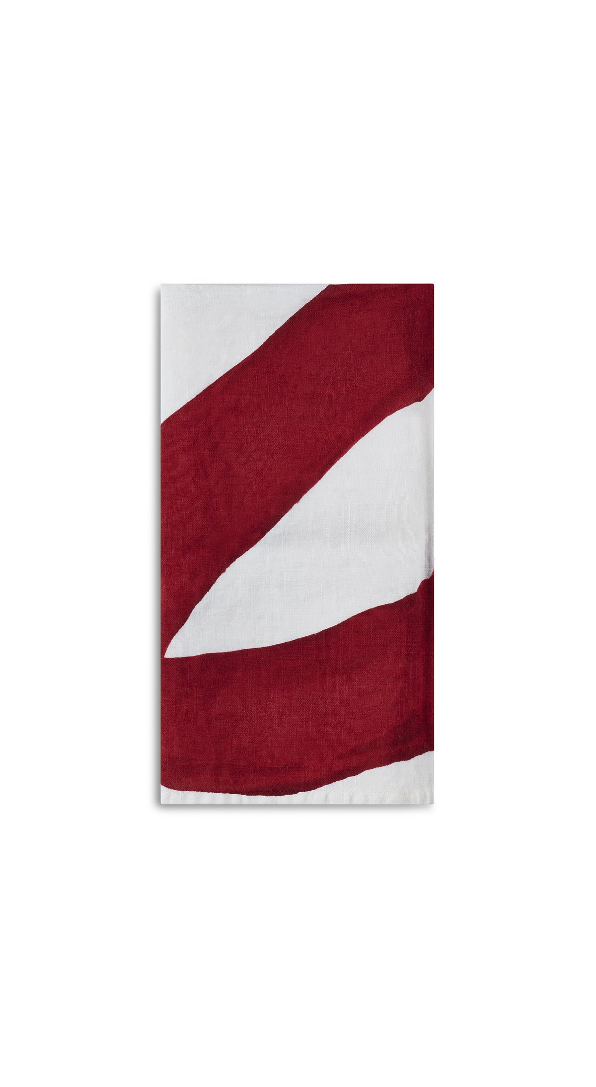 Alphabet Napkin 'P' in Claret Red