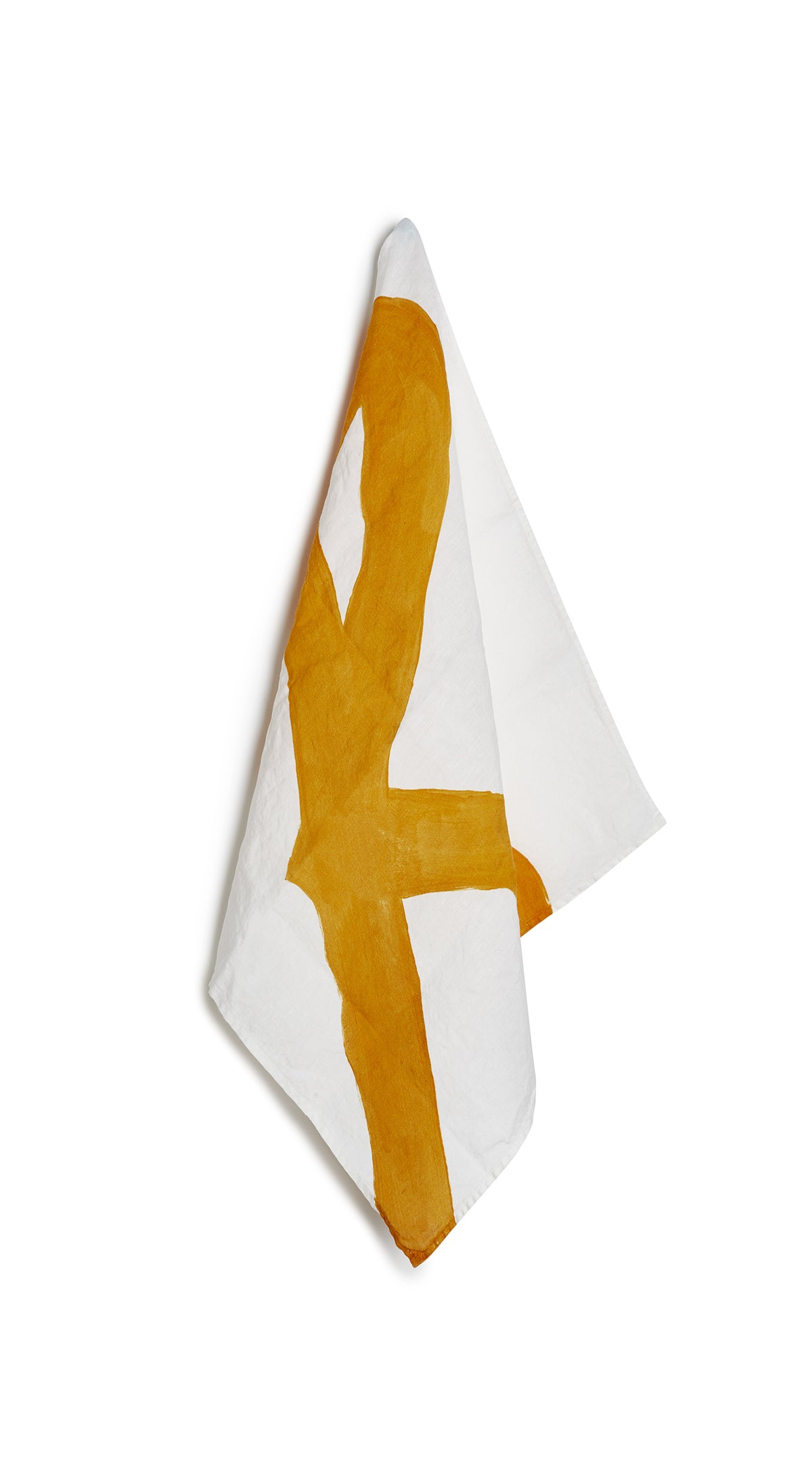 Alphabet Napkin 'R' in Mustard Yellow
