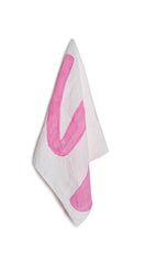 Alphabet Napkin 'S' in Rose Pink