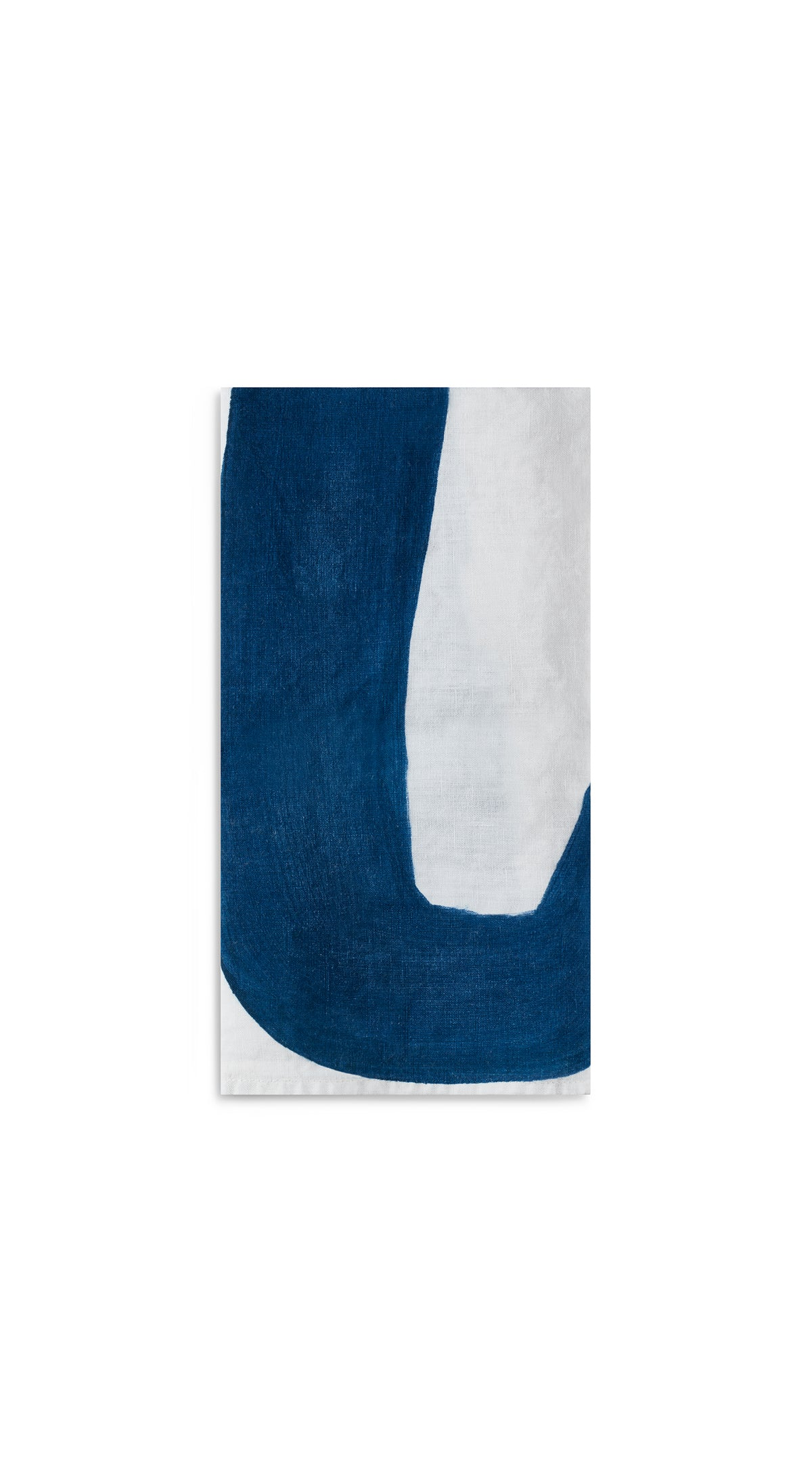 Alphabet Napkin 'U' in Midnight Blue