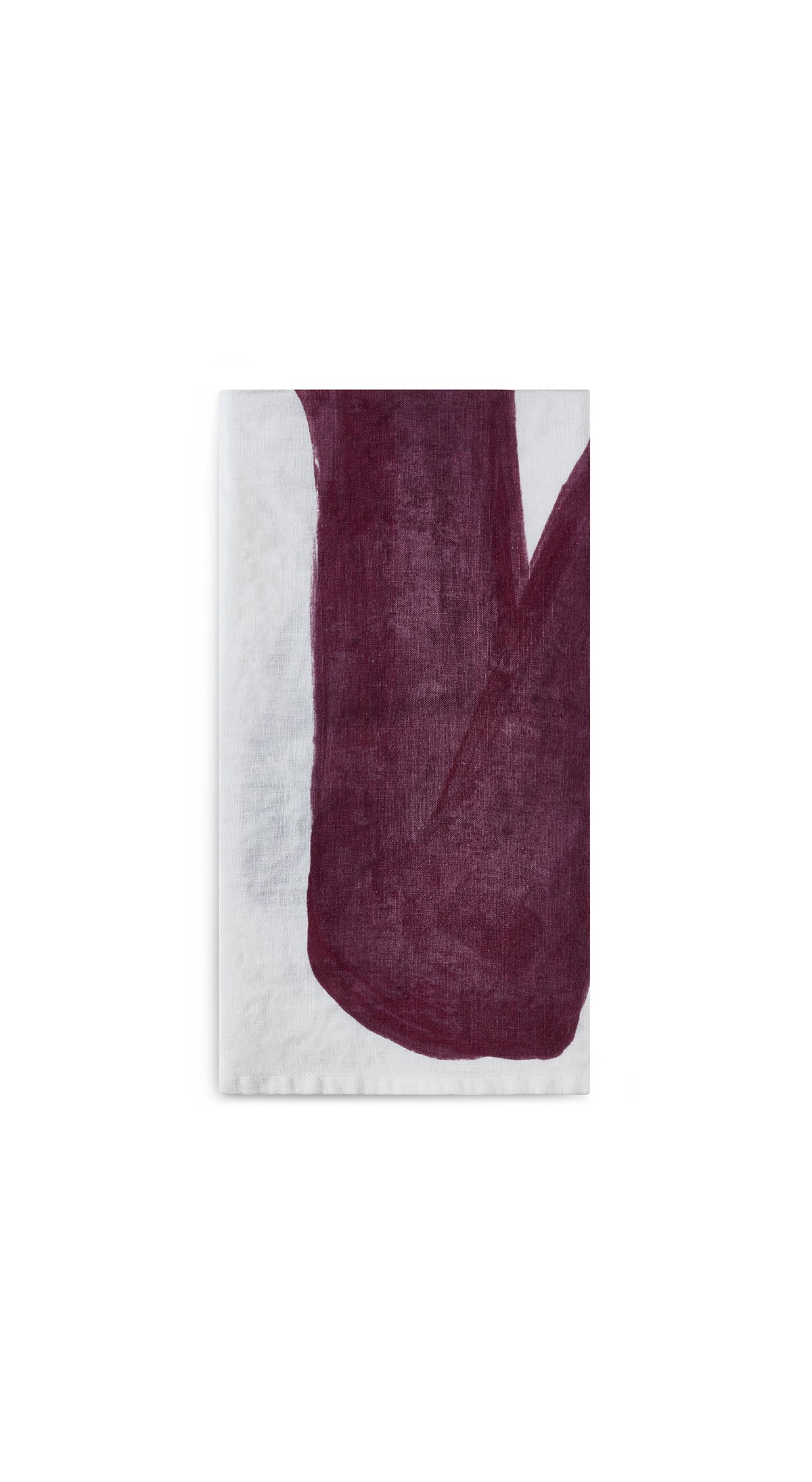 Alphabet Napkin 'V' in Grape Purple