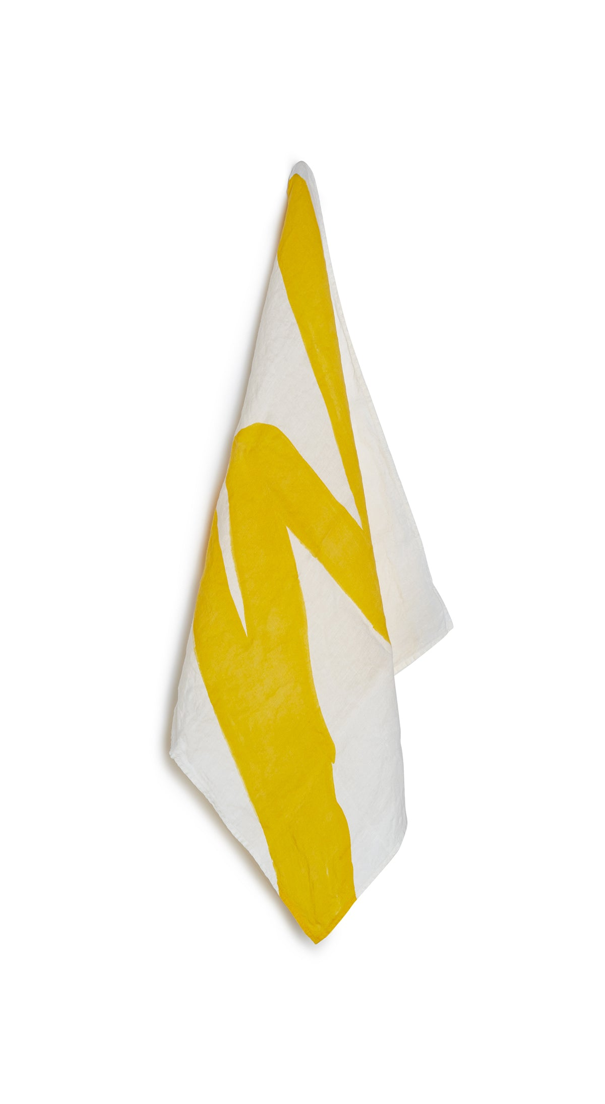 Alphabet Napkin 'W' in Lemon Yellow