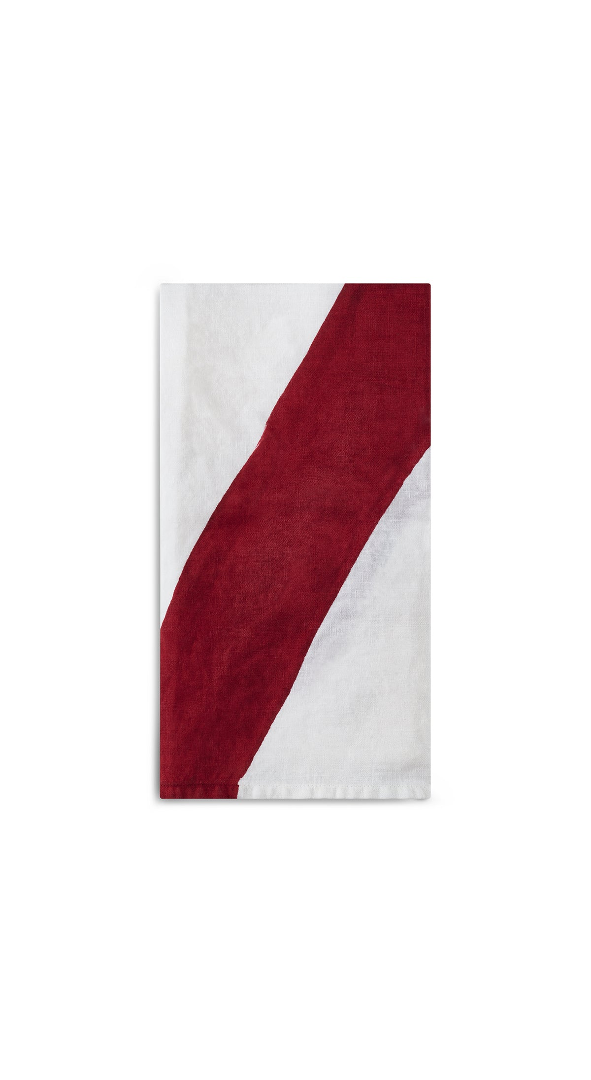 Alphabet Napkin 'X' in Claret Red