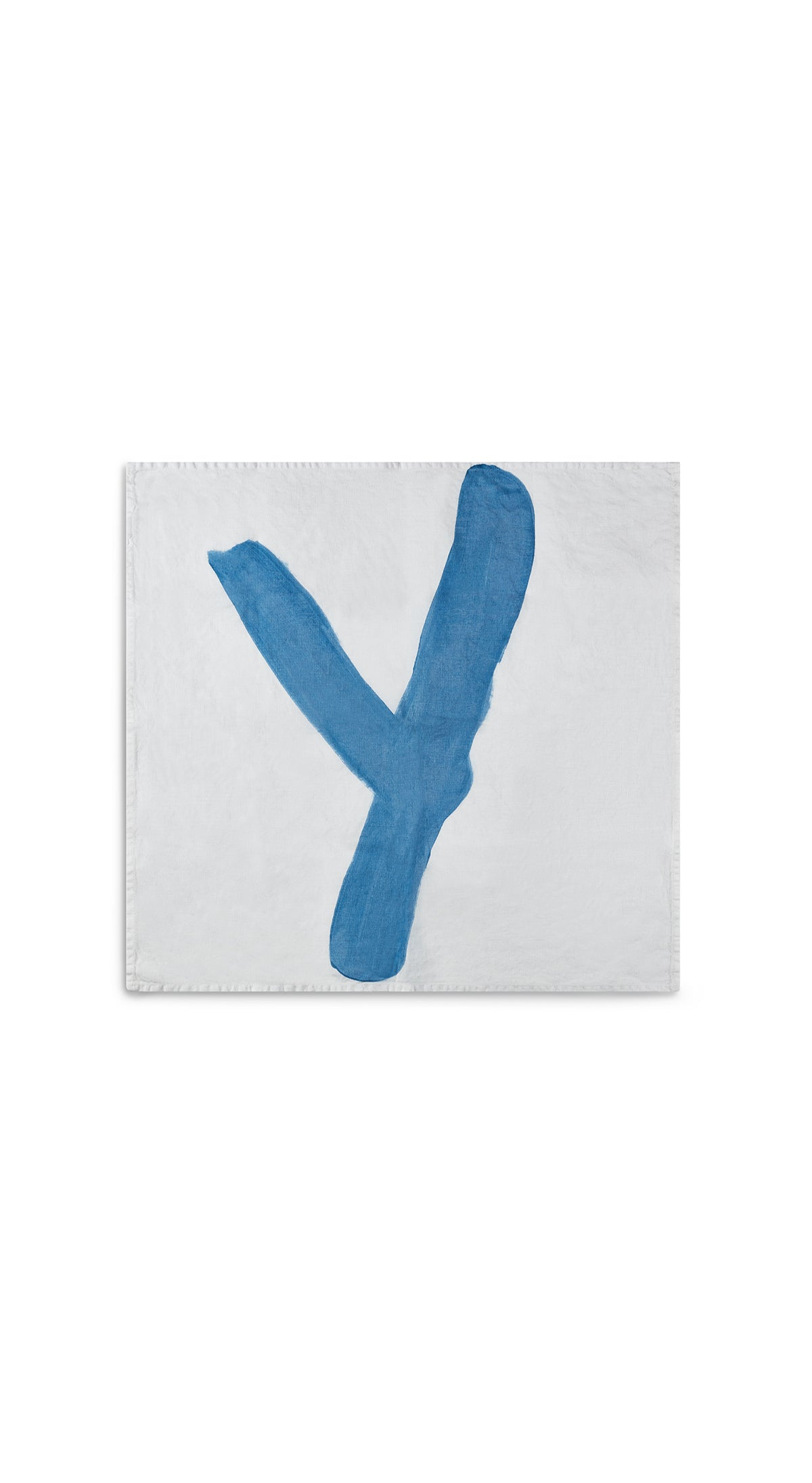 Alphabet Napkin 'Y' in Sky Blue