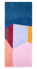 """Cubes"" Block Colour Linen Tablecloth in Multicolours"