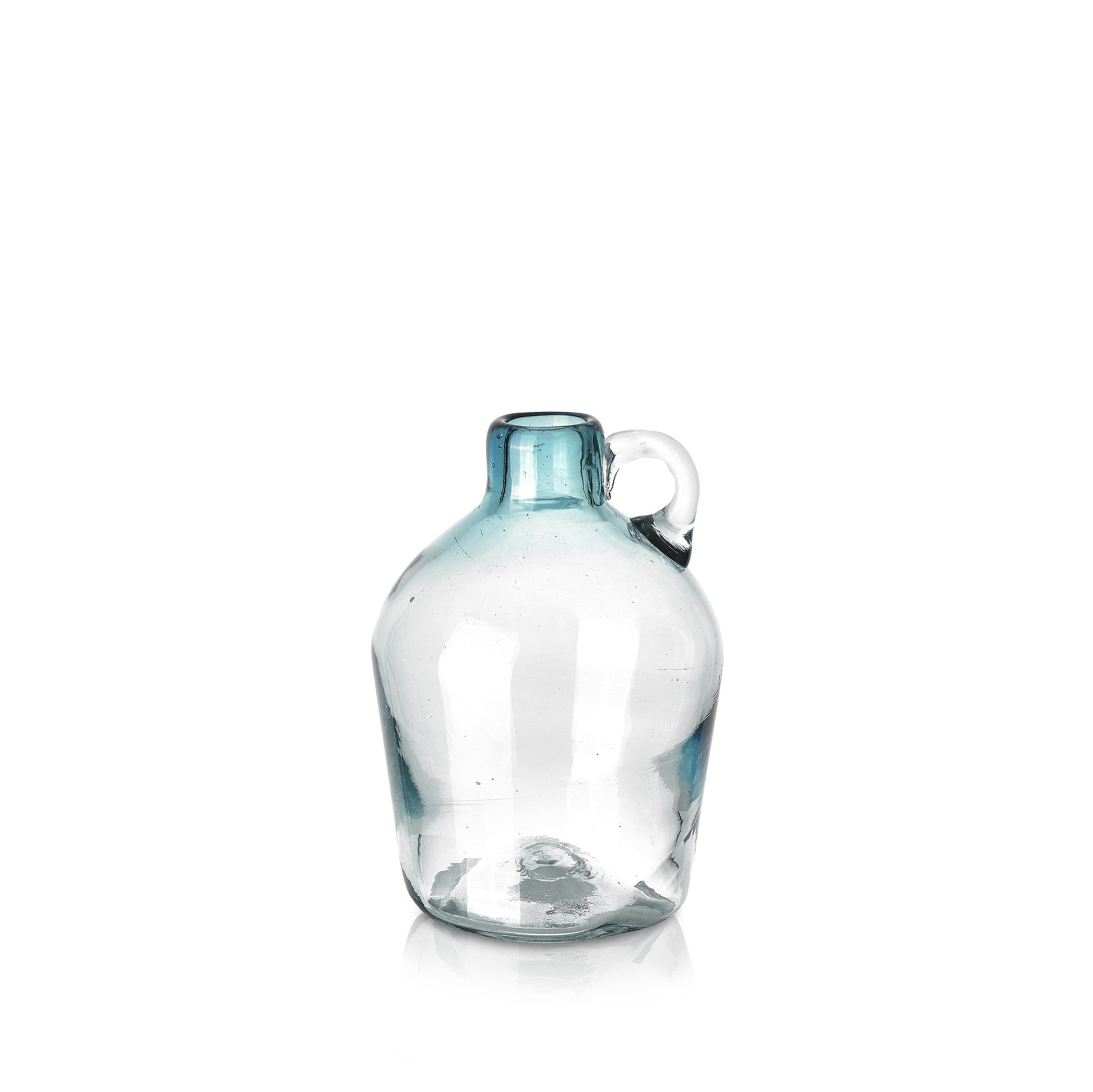 Handblown Glass Pitcher in Turquoise, 18cm