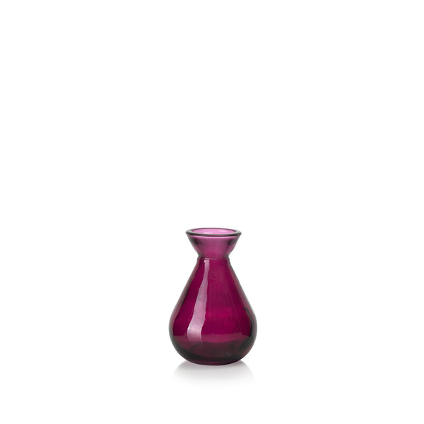 Recycled Glass Bud Vase in Beetroot Purple