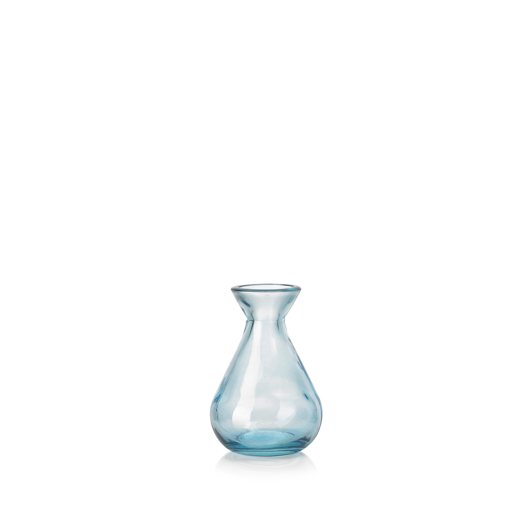 Recycled Glass Bud Vase in Sky Blue