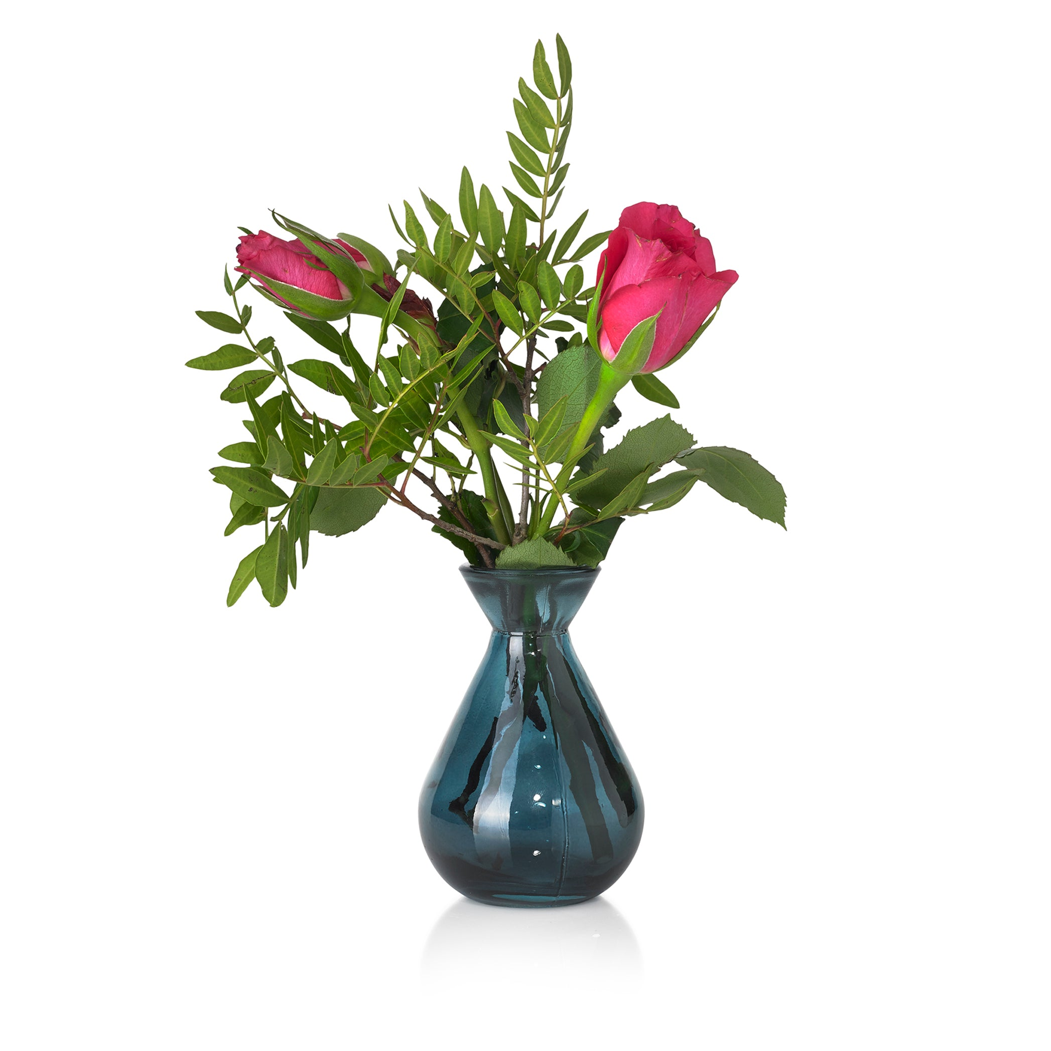 Recycled Glass Bud Vase in Midnight Blue