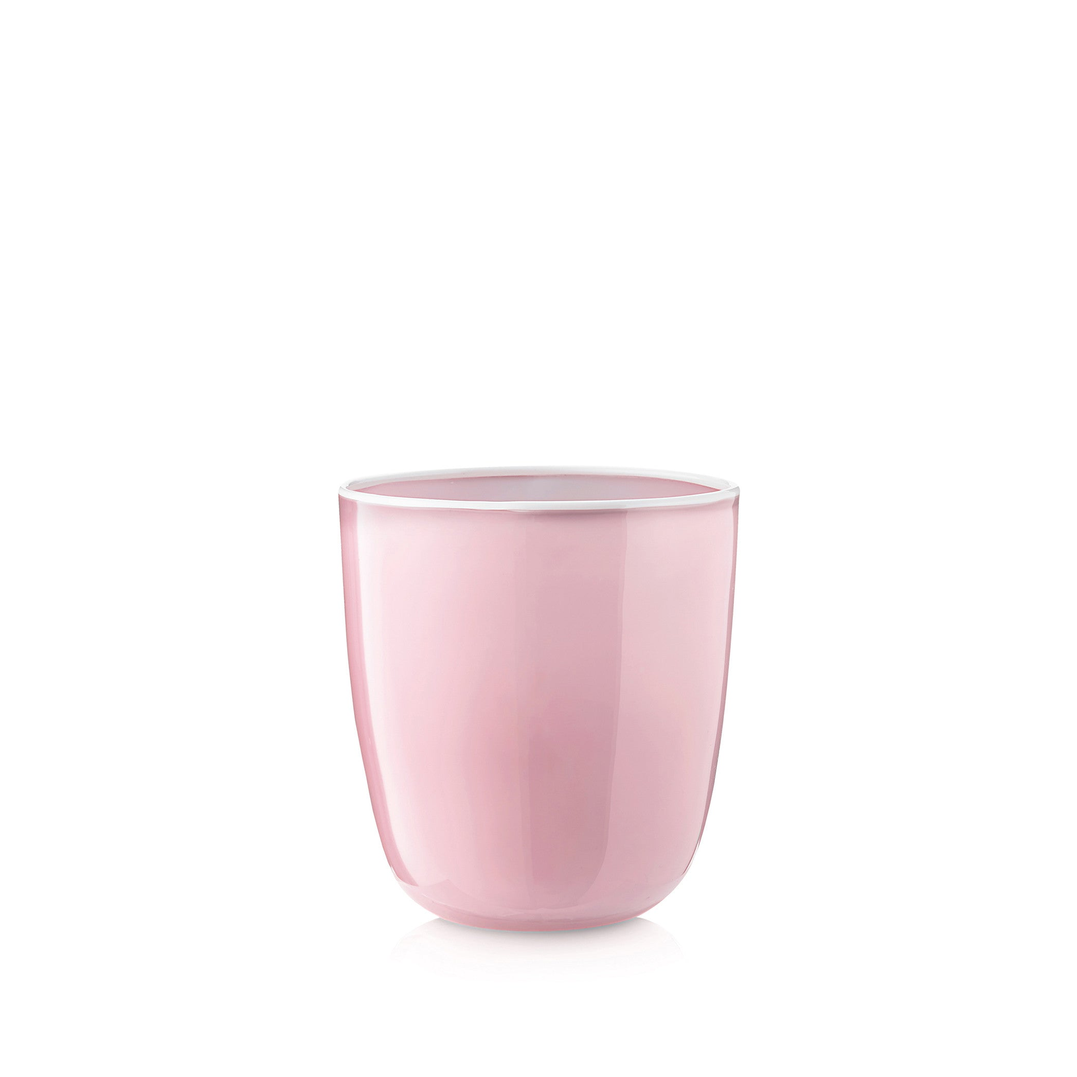 Handblown Bumba Glass in Rose Pink