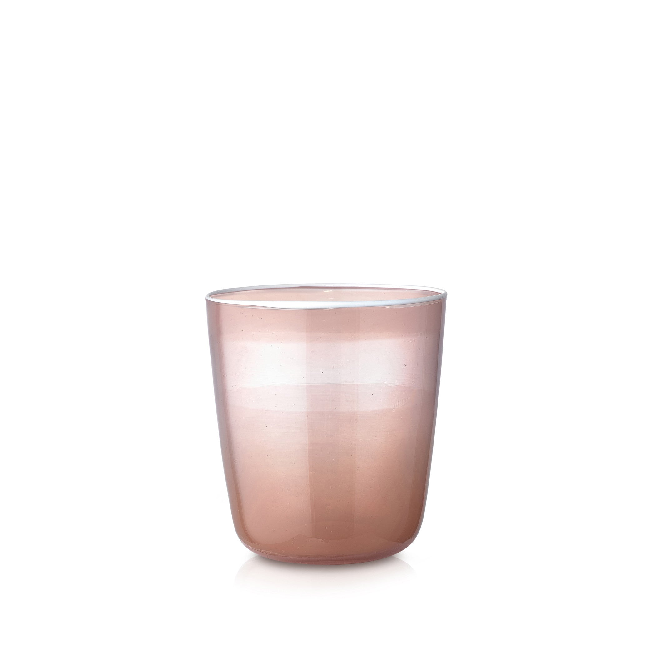 Handblown Bumba Glass in Dusty Pink