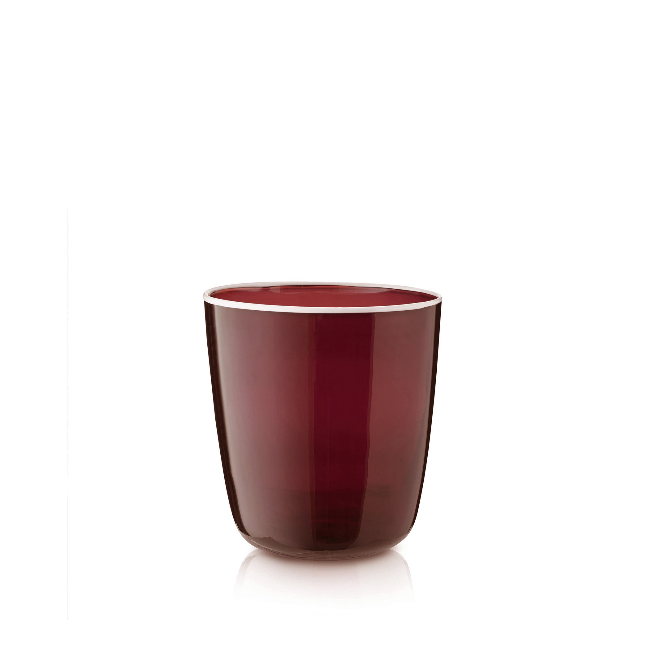 Handblown Bumba Glass in Claret Red