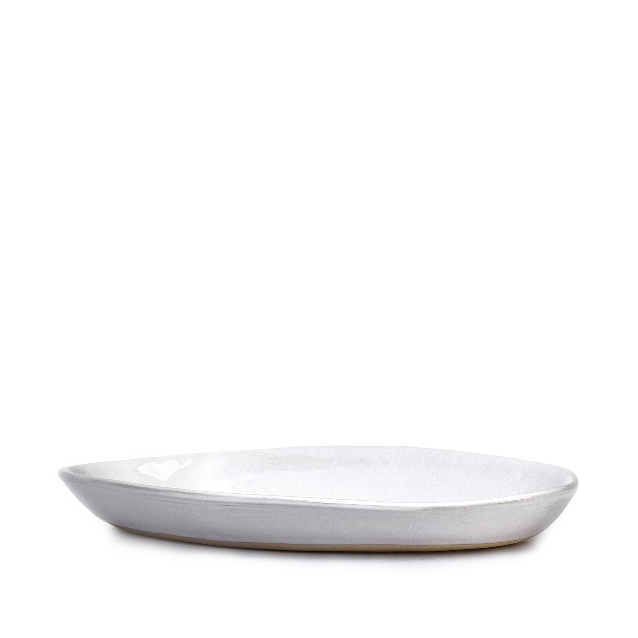 Wonki Ware Medium Bamboo Platter in White, 43cm