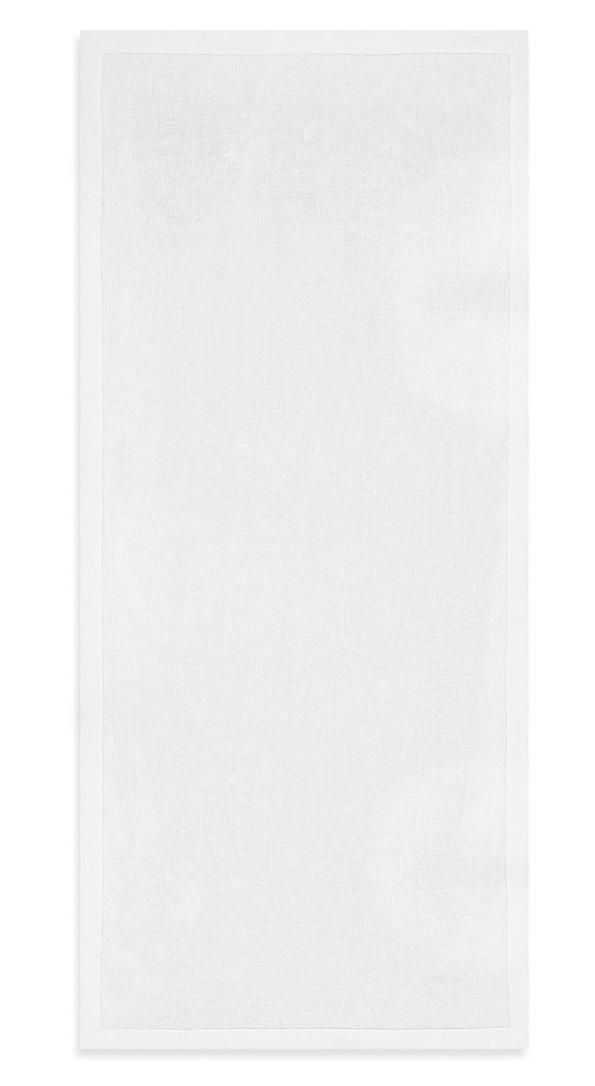 S&B Beautiful White Hemstitch Linen Tablecloth