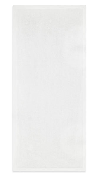 S&B 'Beautifully Boring' Crisp Plain White Linen Tablecloth