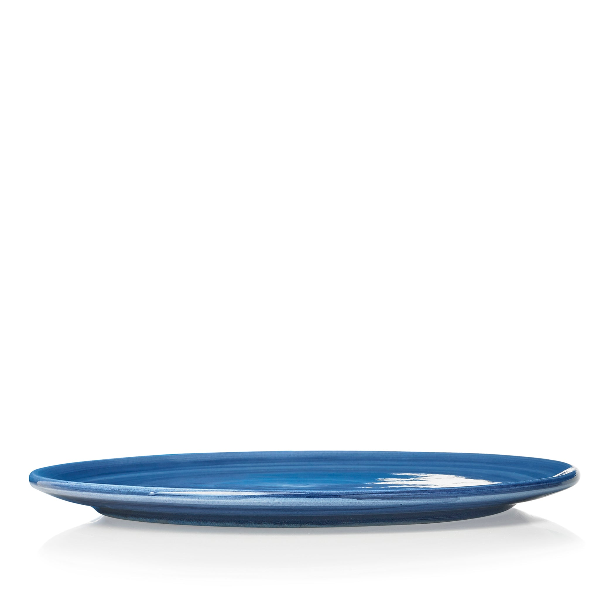 "S&B ""La Couronne"" 29cm Ceramic Tart / Cake Plate in Blue"