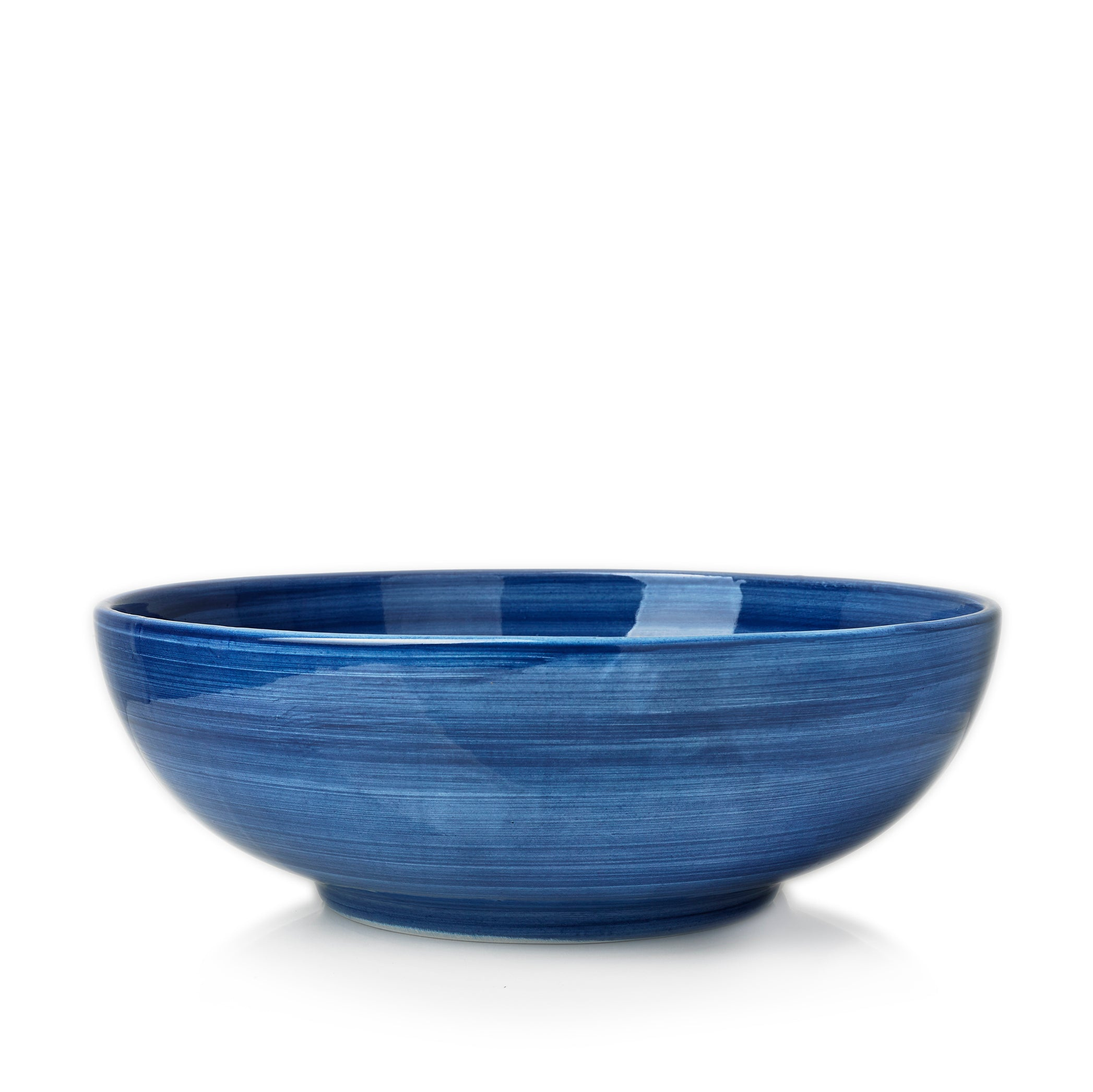 "S&B ""La Couronne"" 30cm Ceramic Large Serving Bowl in Blue"