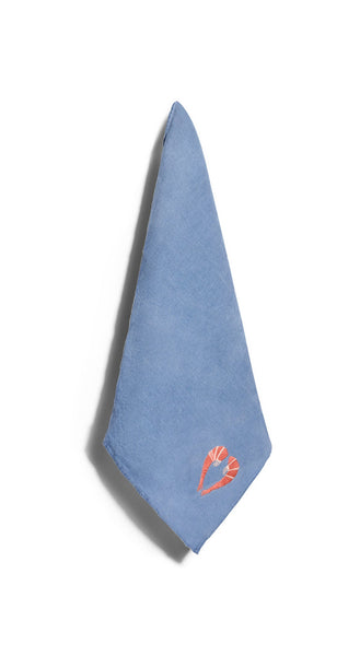 S&B x Shrimps Napkin in Powder Blue