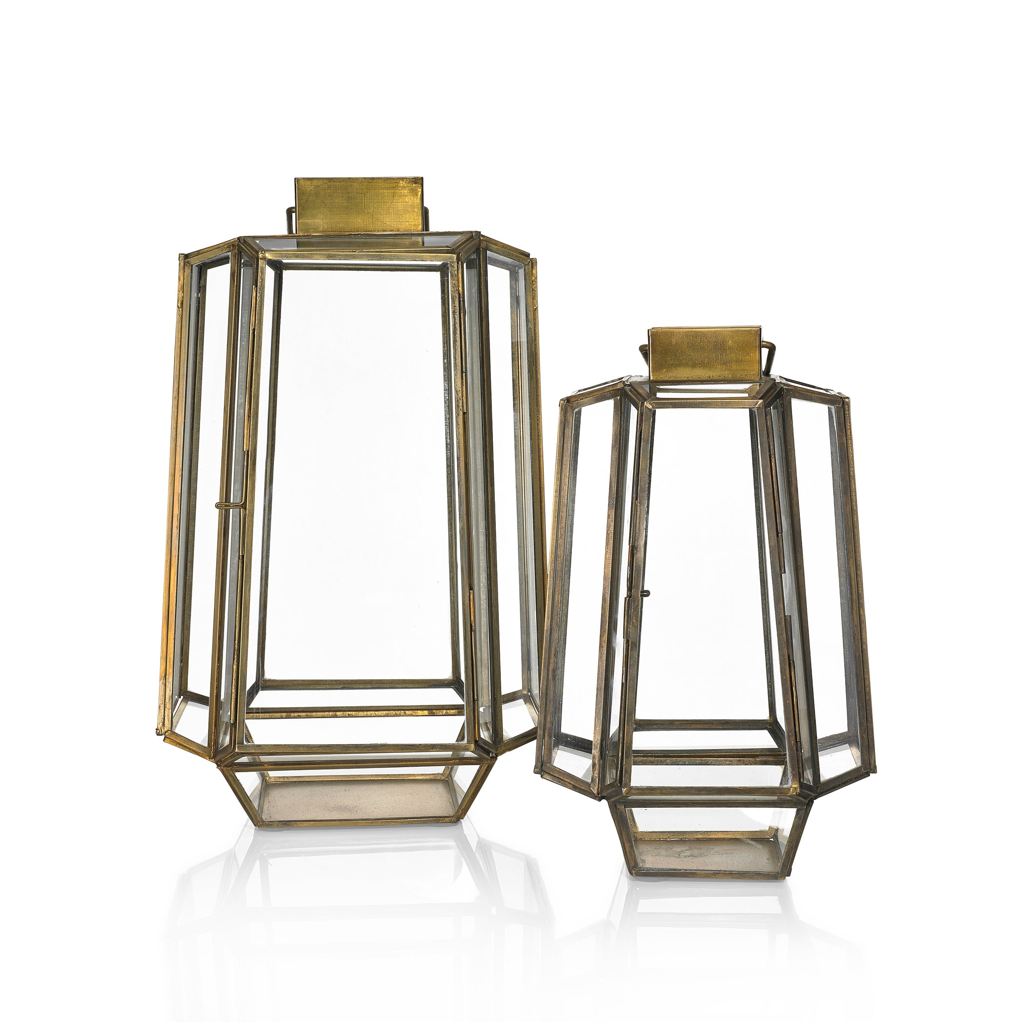 Bronte Lantern in Brass, Large