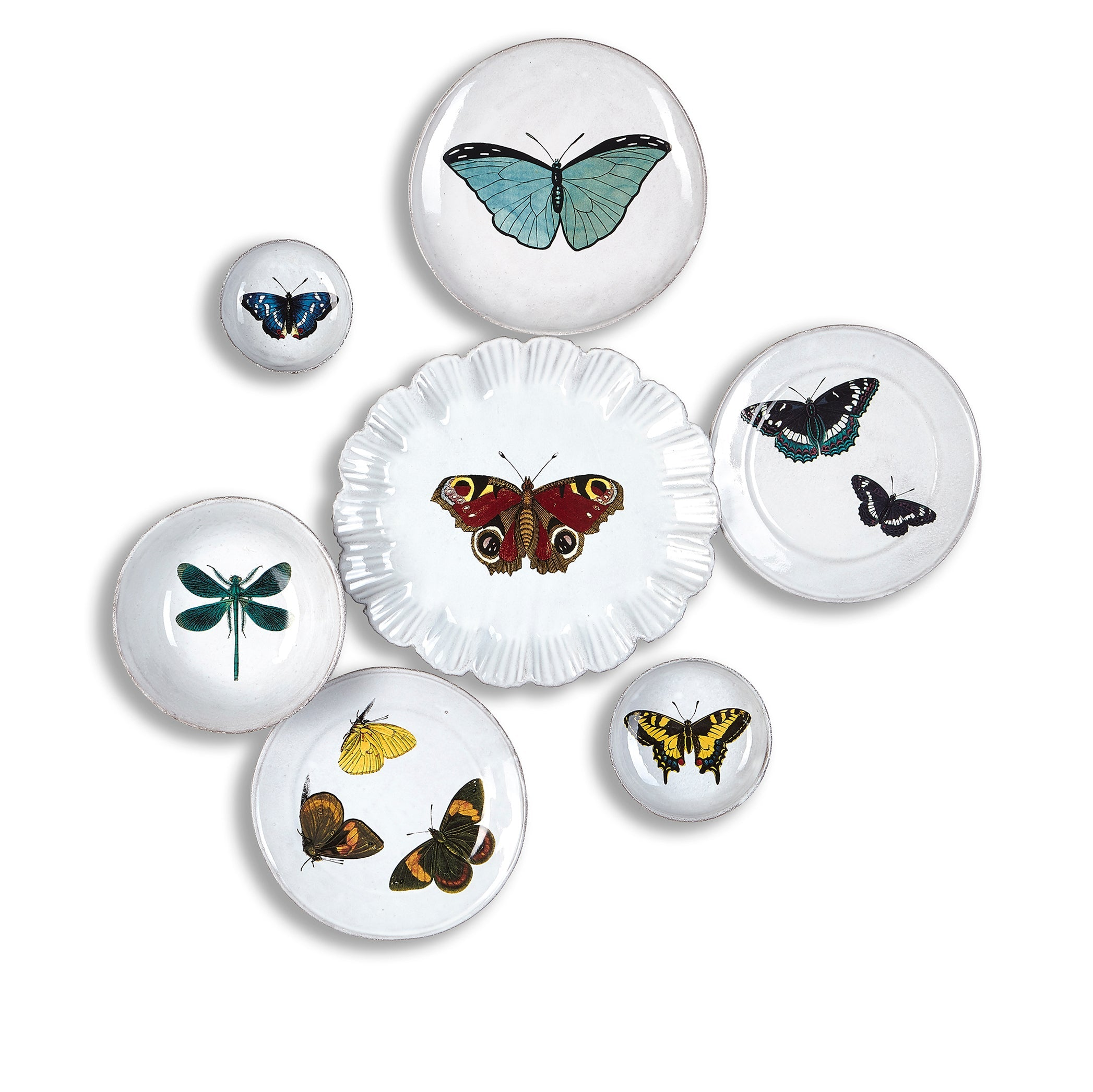 Yellow Butterfly Small Dish by Astier de Villatte