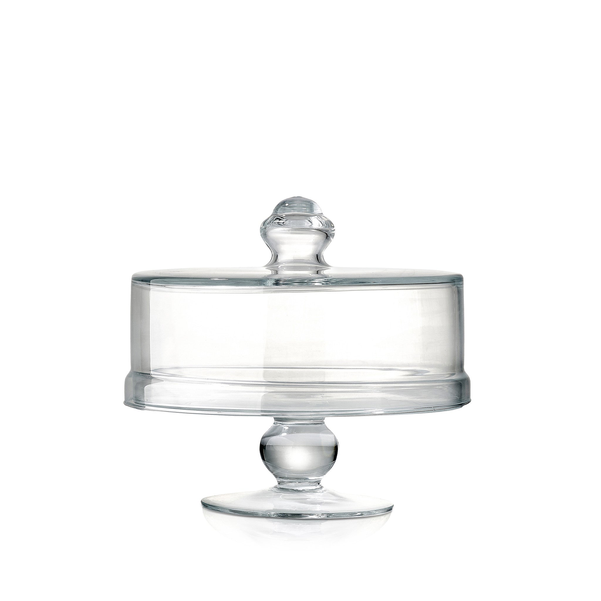 Glass Cake Stand with Cover, 25cm