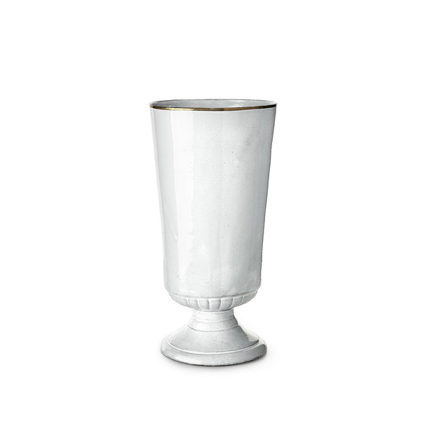 Casper Large Vase with Gold Rim by Astier de Villatte