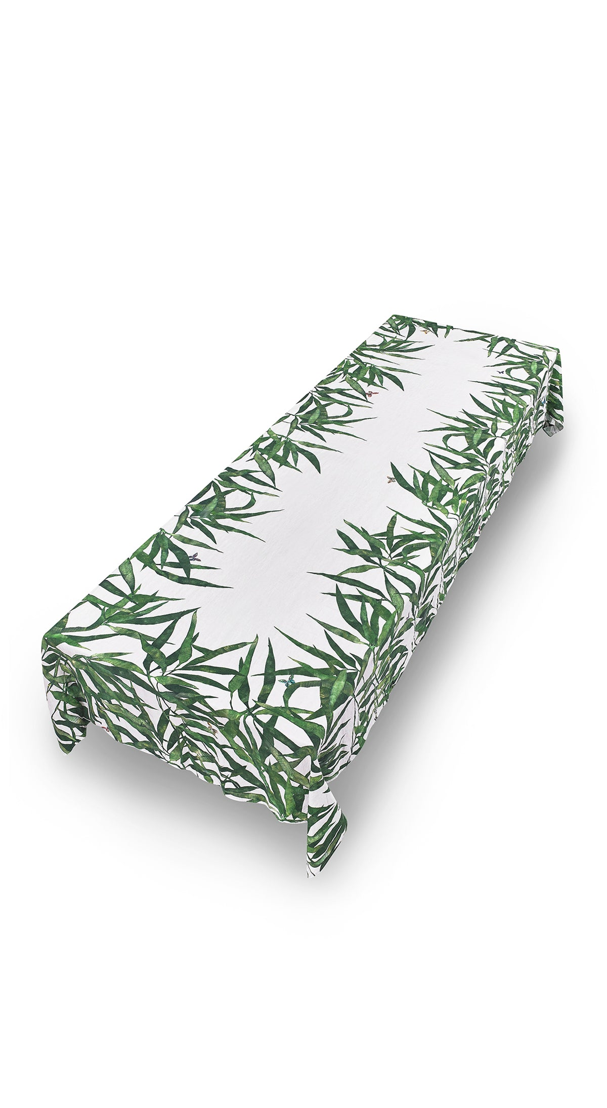 Les Palmiers Linen Tablecloth in Green