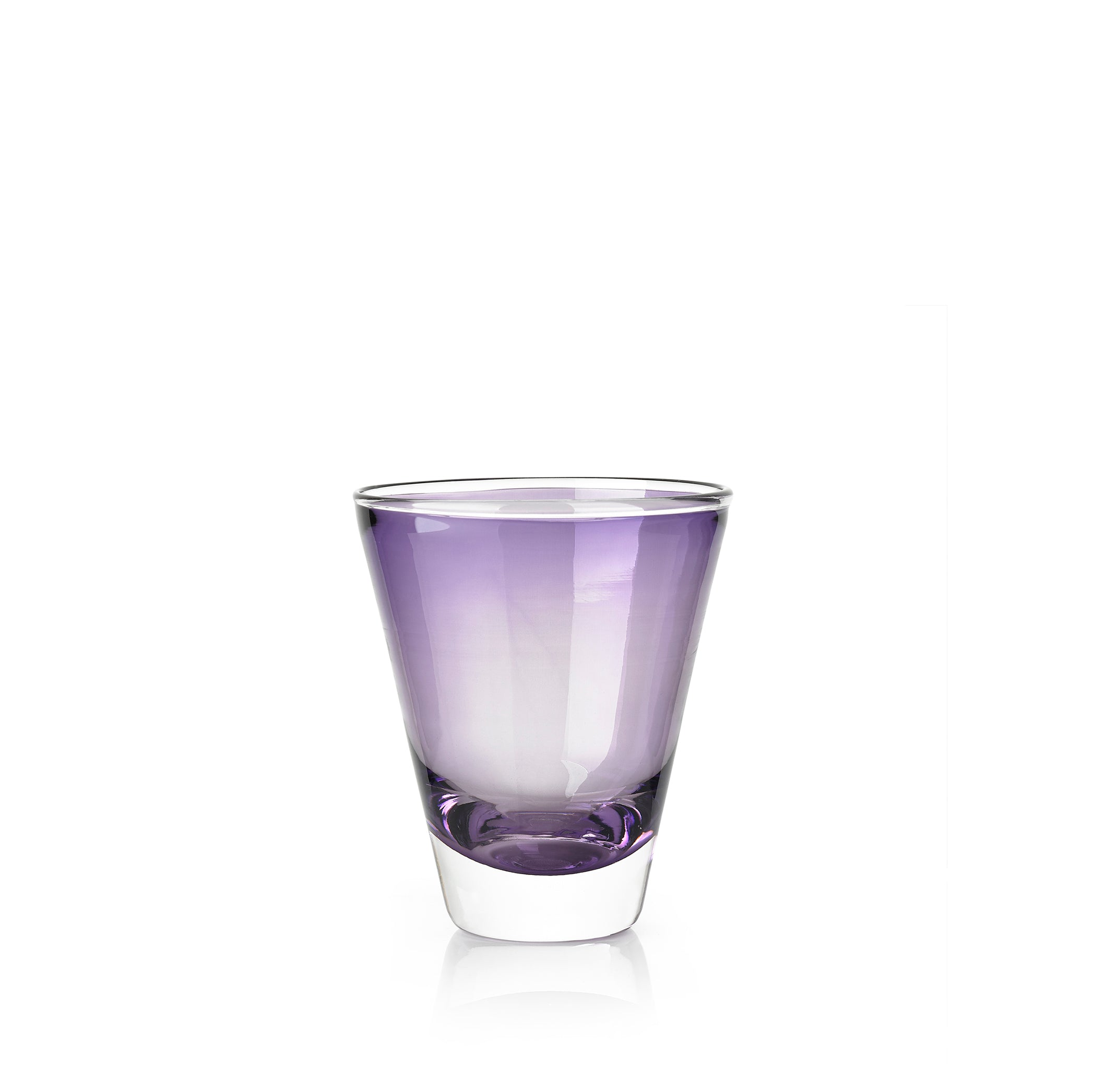 Handblown Clair Glass in Grape Purple