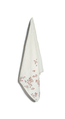 Bernadette's Falling Flower Linen Napkin in Rust Red
