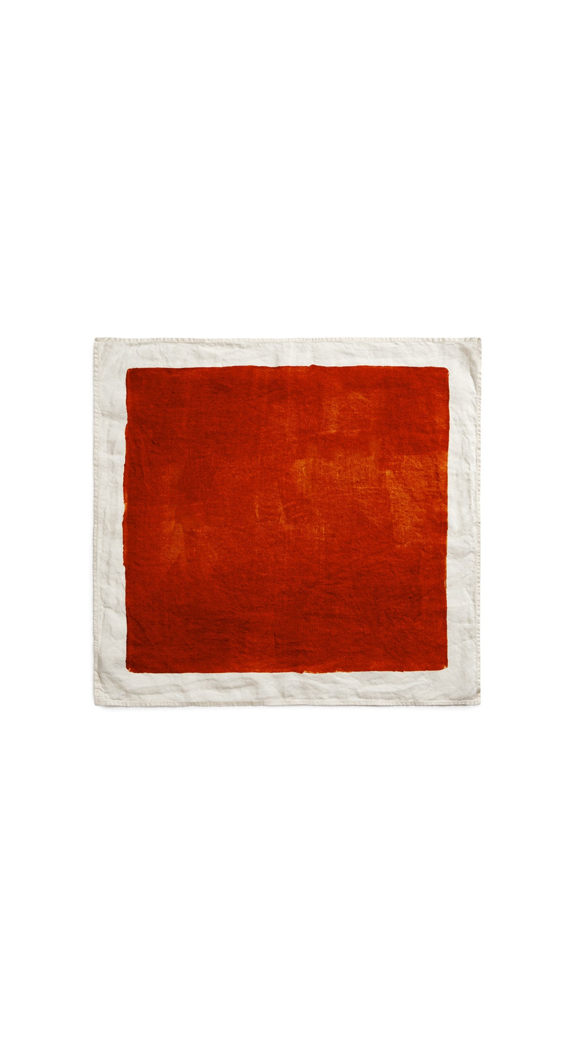 Full Field Linen Napkin in Rust Red