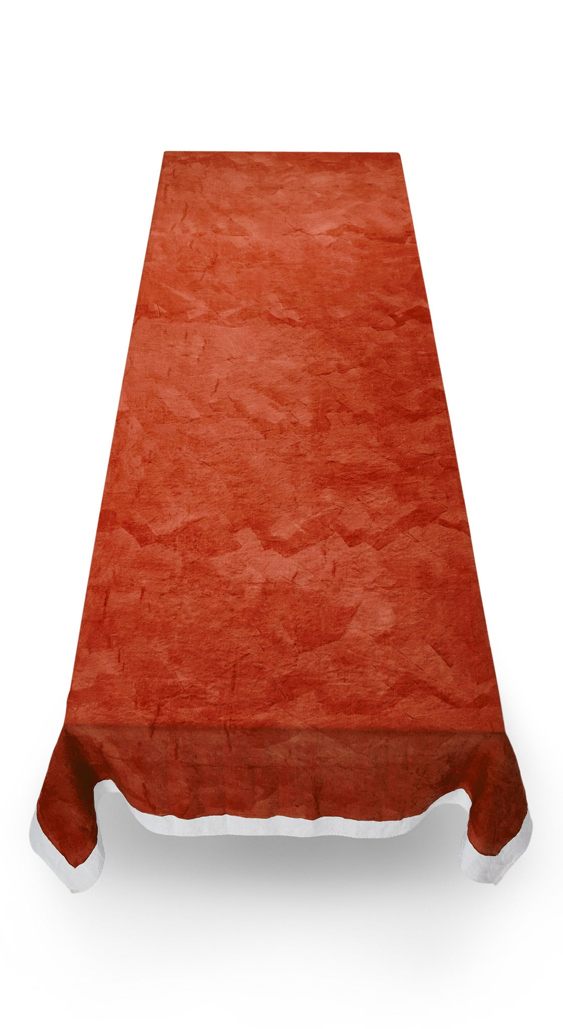 Full Field Linen Tablecloth in Rust Red