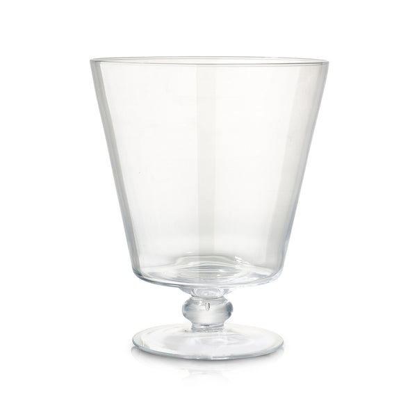 Large Conical Glass Vase with Foot
