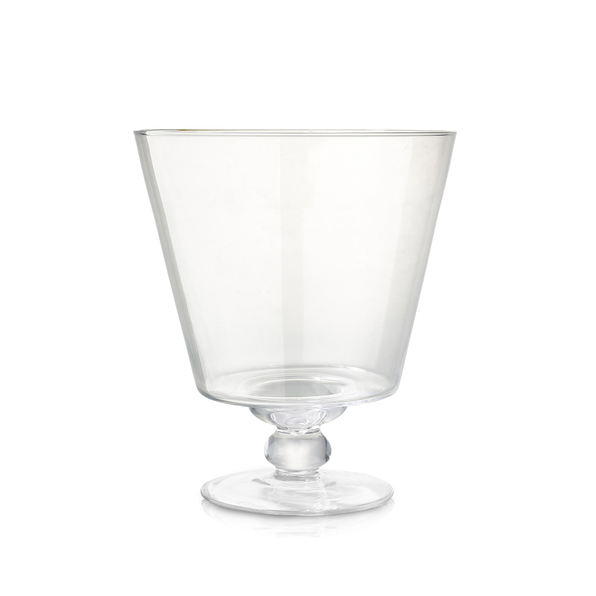 Medium Conical Glass Vase with Foot