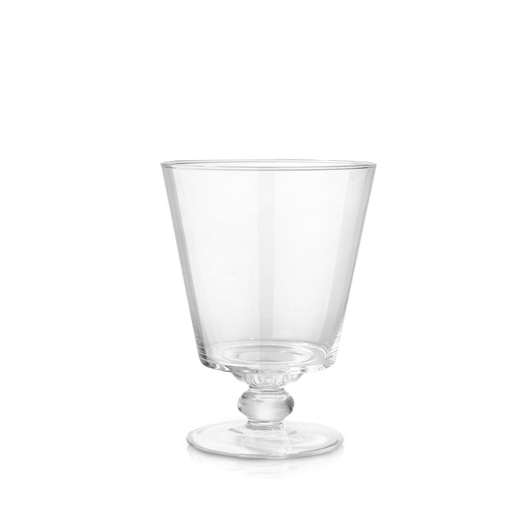 Small Conical Glass Vase with Foot