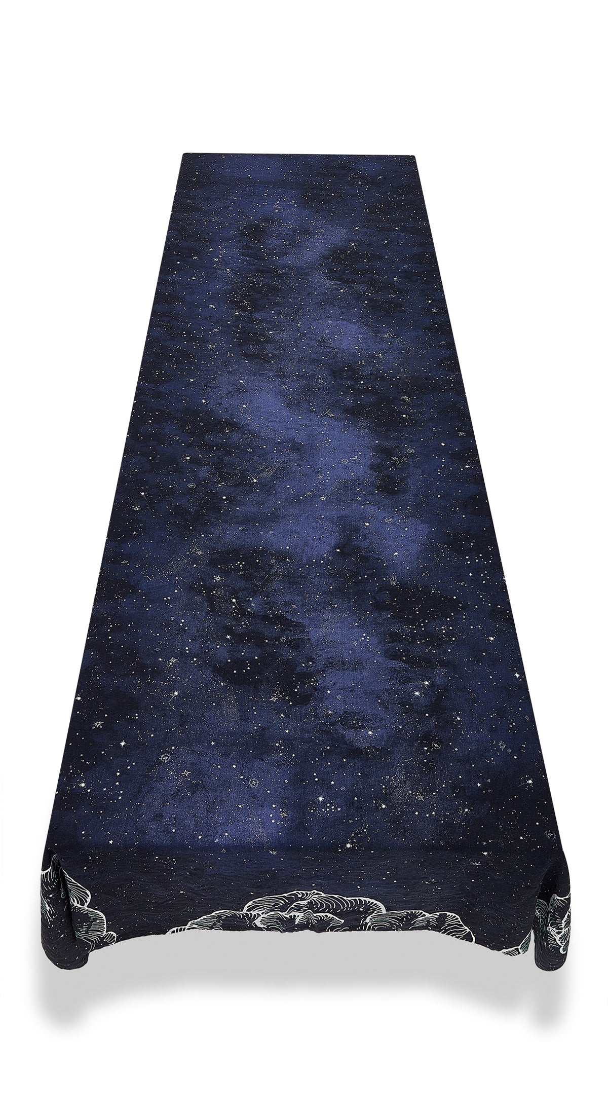 Constellation Linen Tablecloth in Cosmic Blue