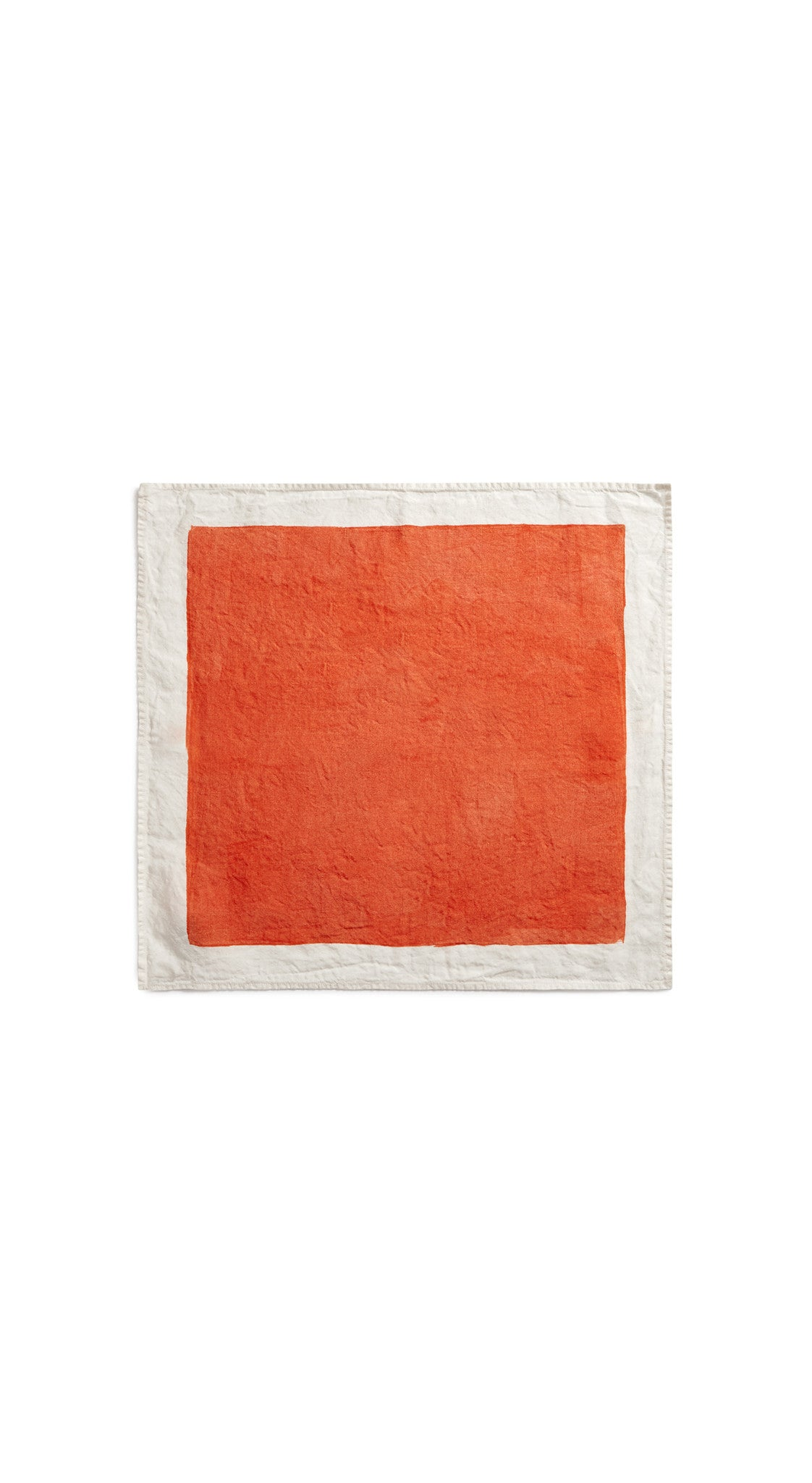 Full Field Linen Napkin in Coral Orange