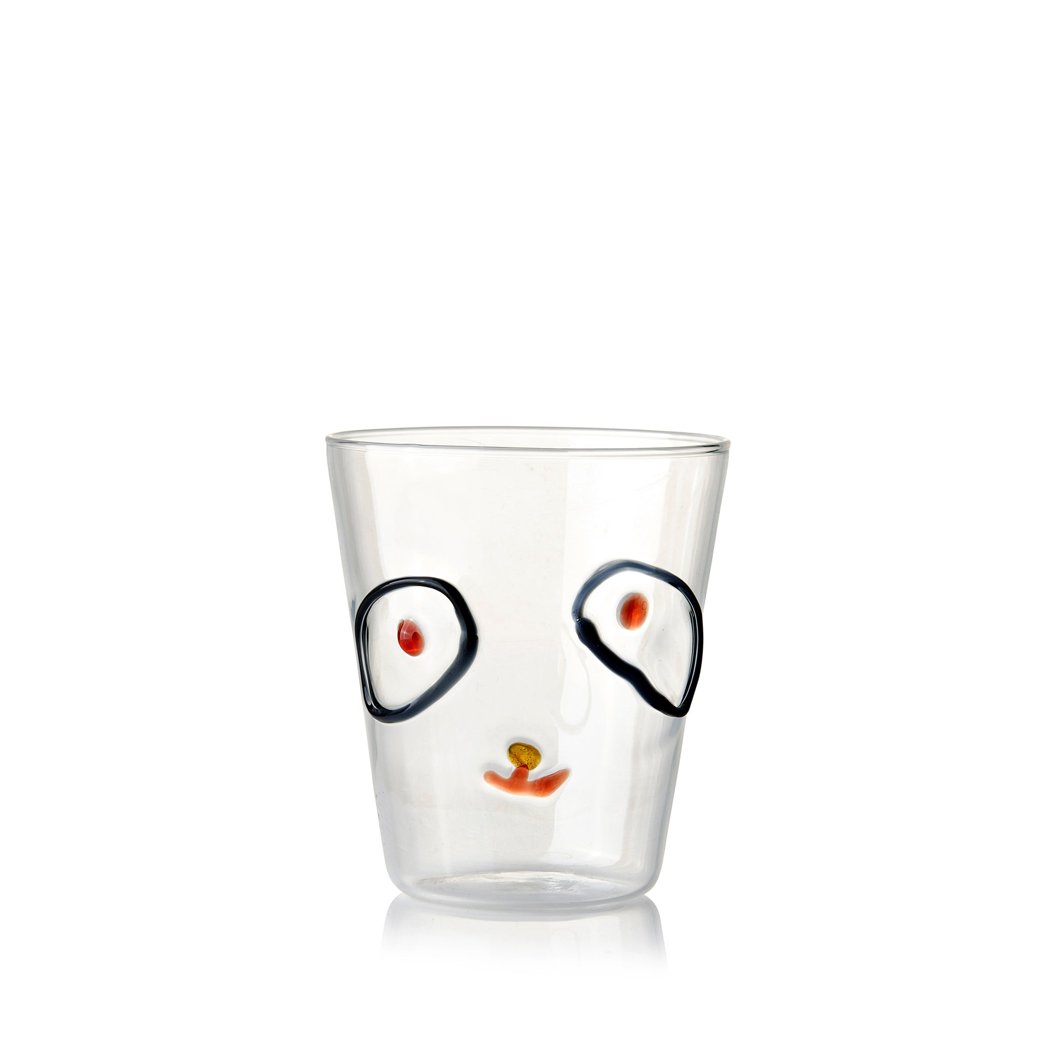 Handblown Glass Tumbler with Dog Head