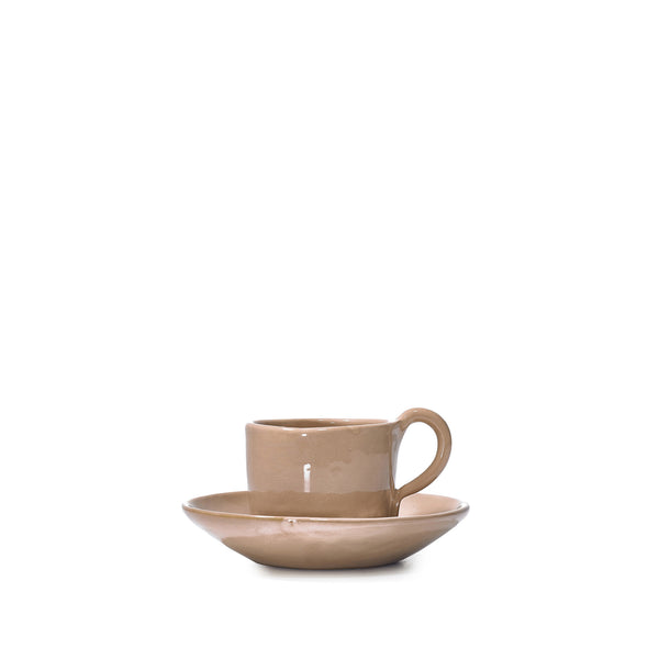 Espresso Cup and Saucer in Pink