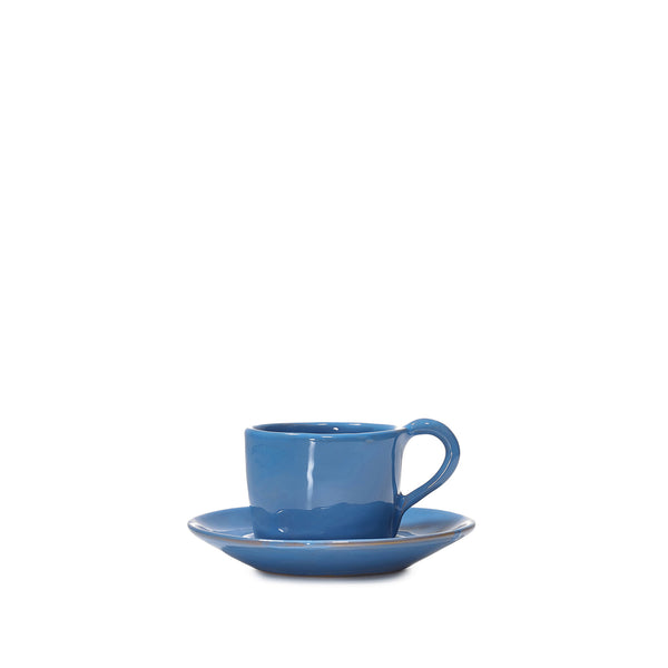 Espresso Cup and Saucer in Dark Blue