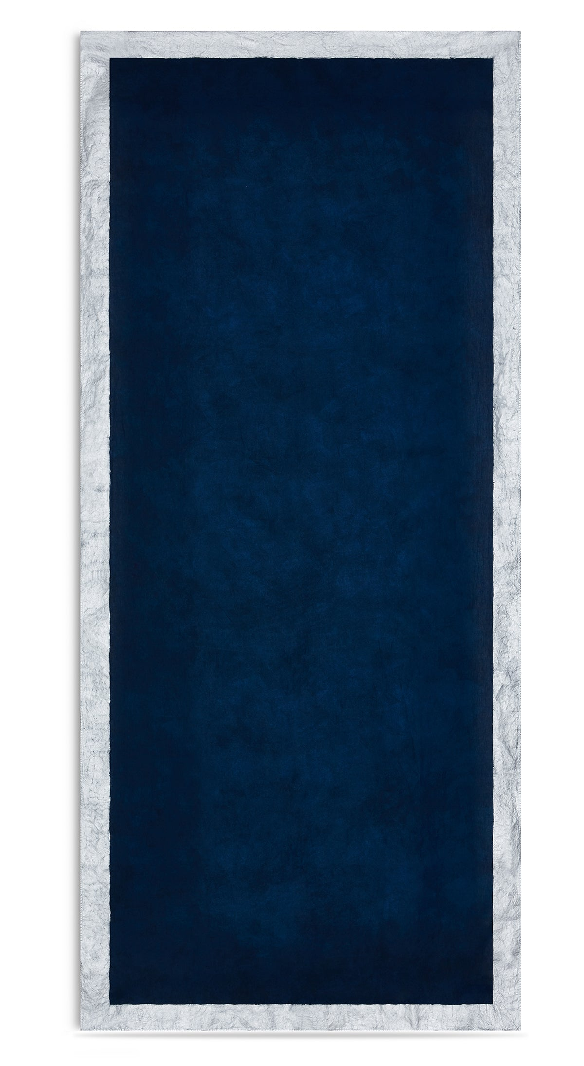 Silver Edge Linen Tablecloth in Midnight Blue