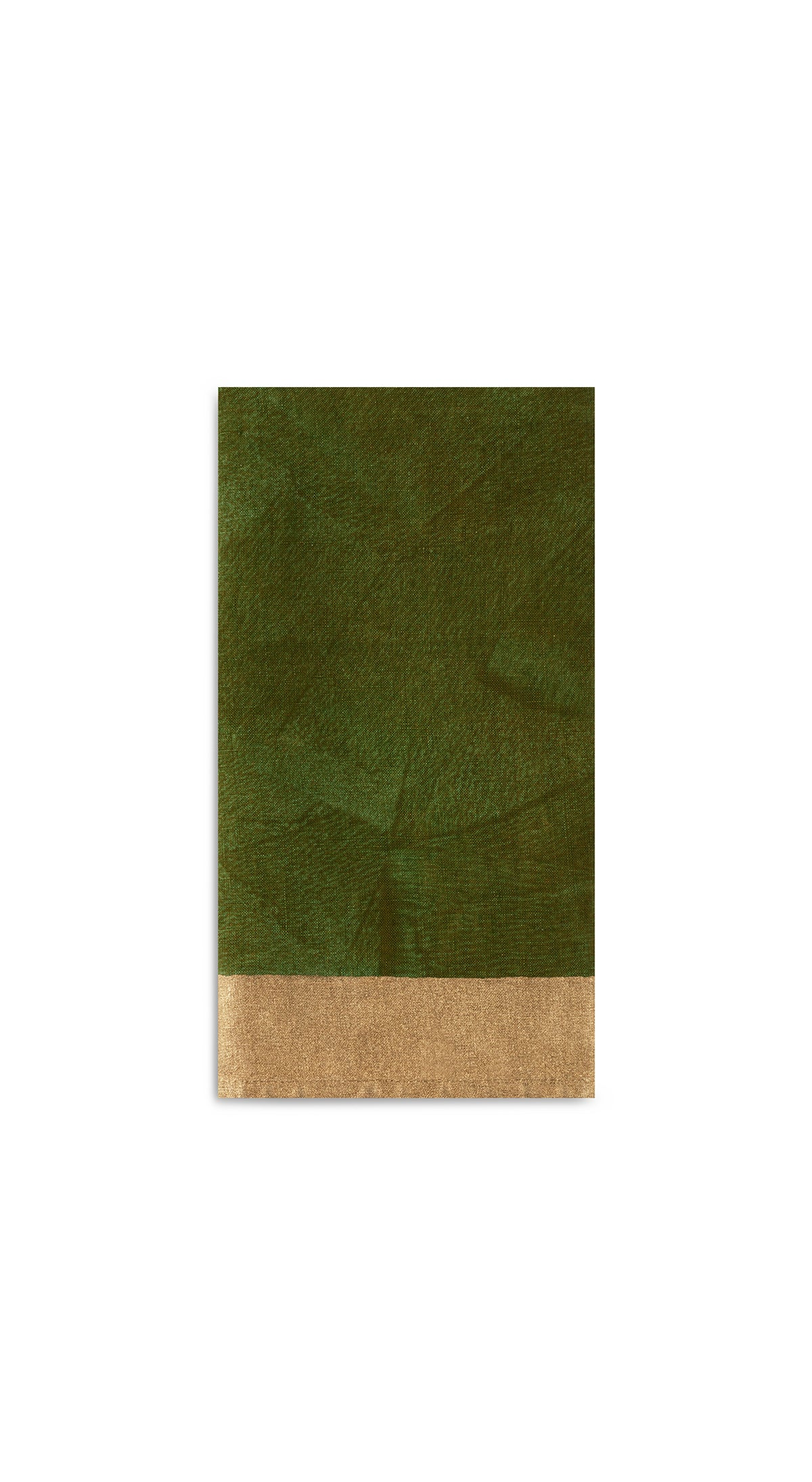 Bronze Edge Linen Napkin in Avocado Green
