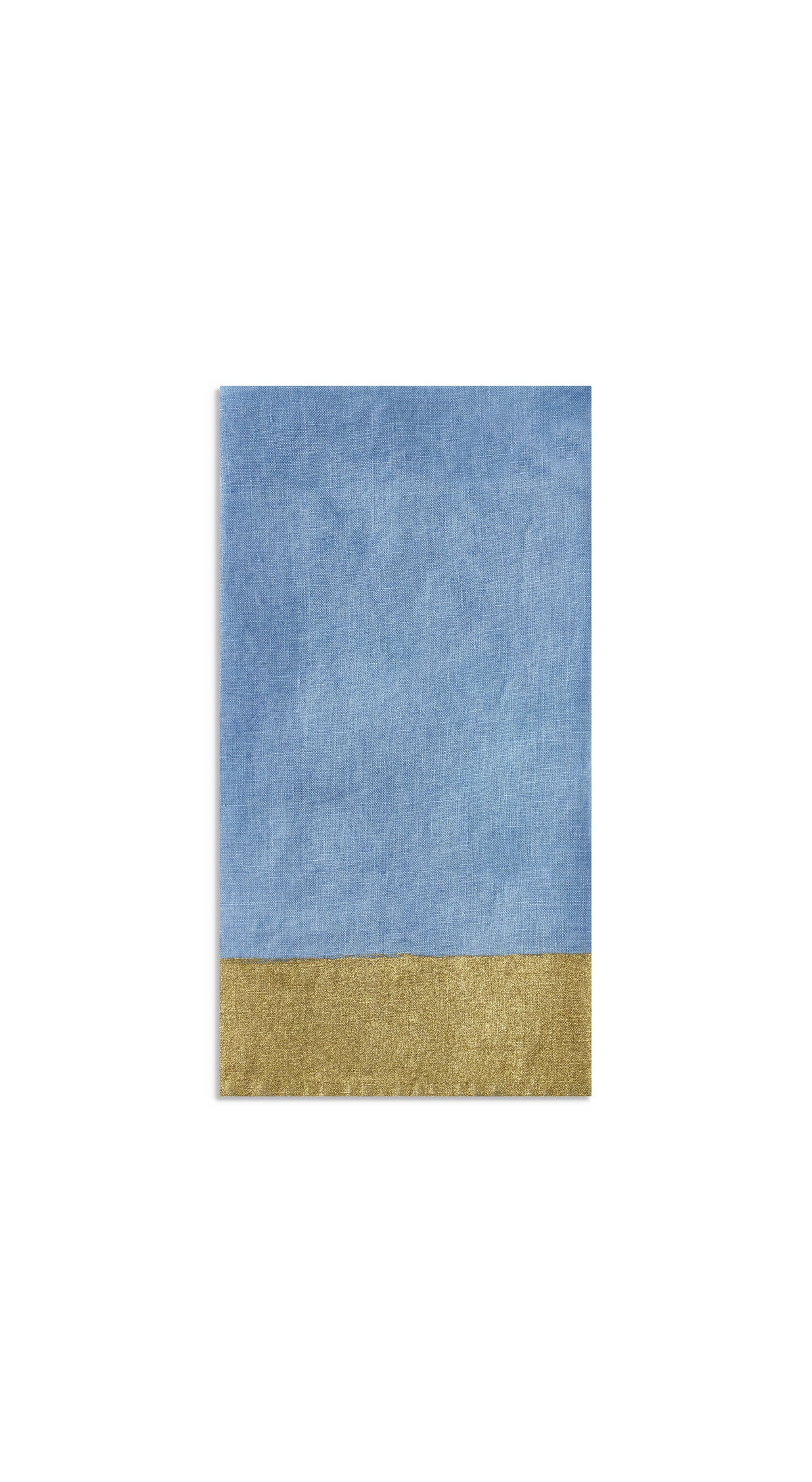 Gold Edge Linen Napkin in Pale Blue